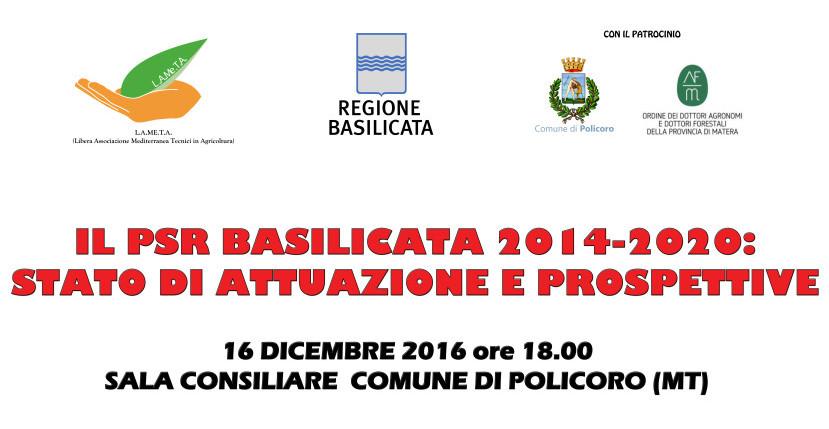 """Convegno """" Il PSR Basilicata 2014-2020: Stato di attuazione e prospettive"""". Report dell'evento."""
